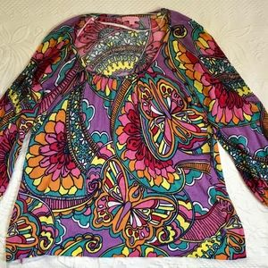 Lily Pulitzer tunic cotton sweater